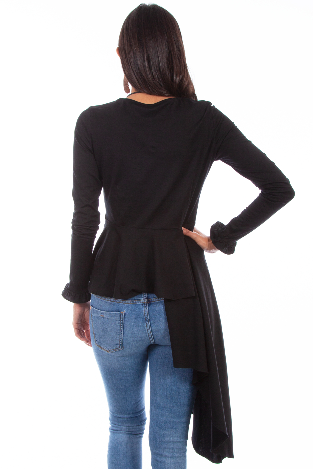 Scully Asymmetrical Peplum Top - Front Full Image