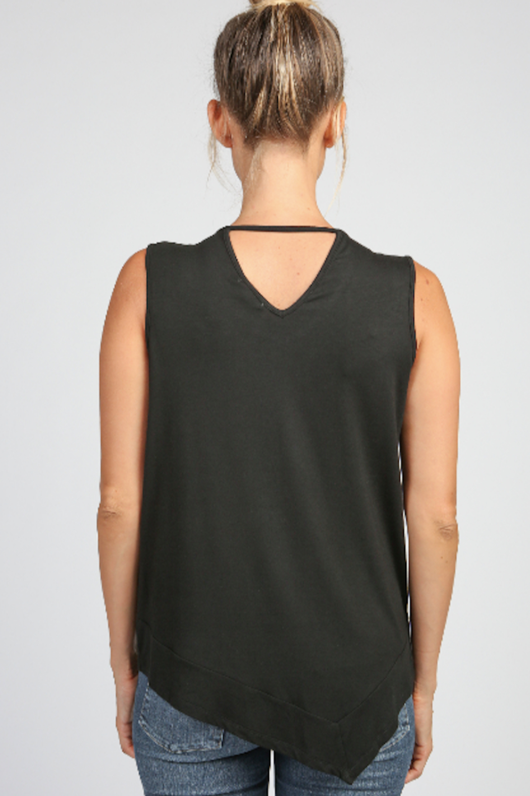 Articles of Society Asymmetrical Rib Hem Tank - Side Cropped Image