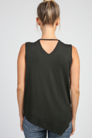 Articles of Society Asymmetrical Rib Hem Tank - Side cropped
