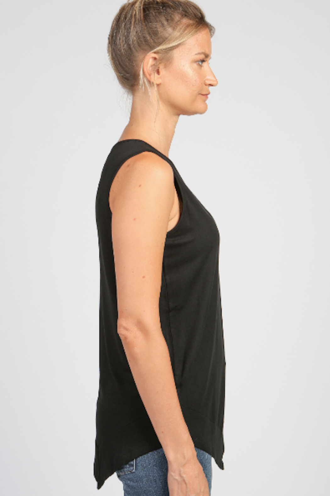 Articles of Society Asymmetrical Rib Hem Tank - Front Full Image