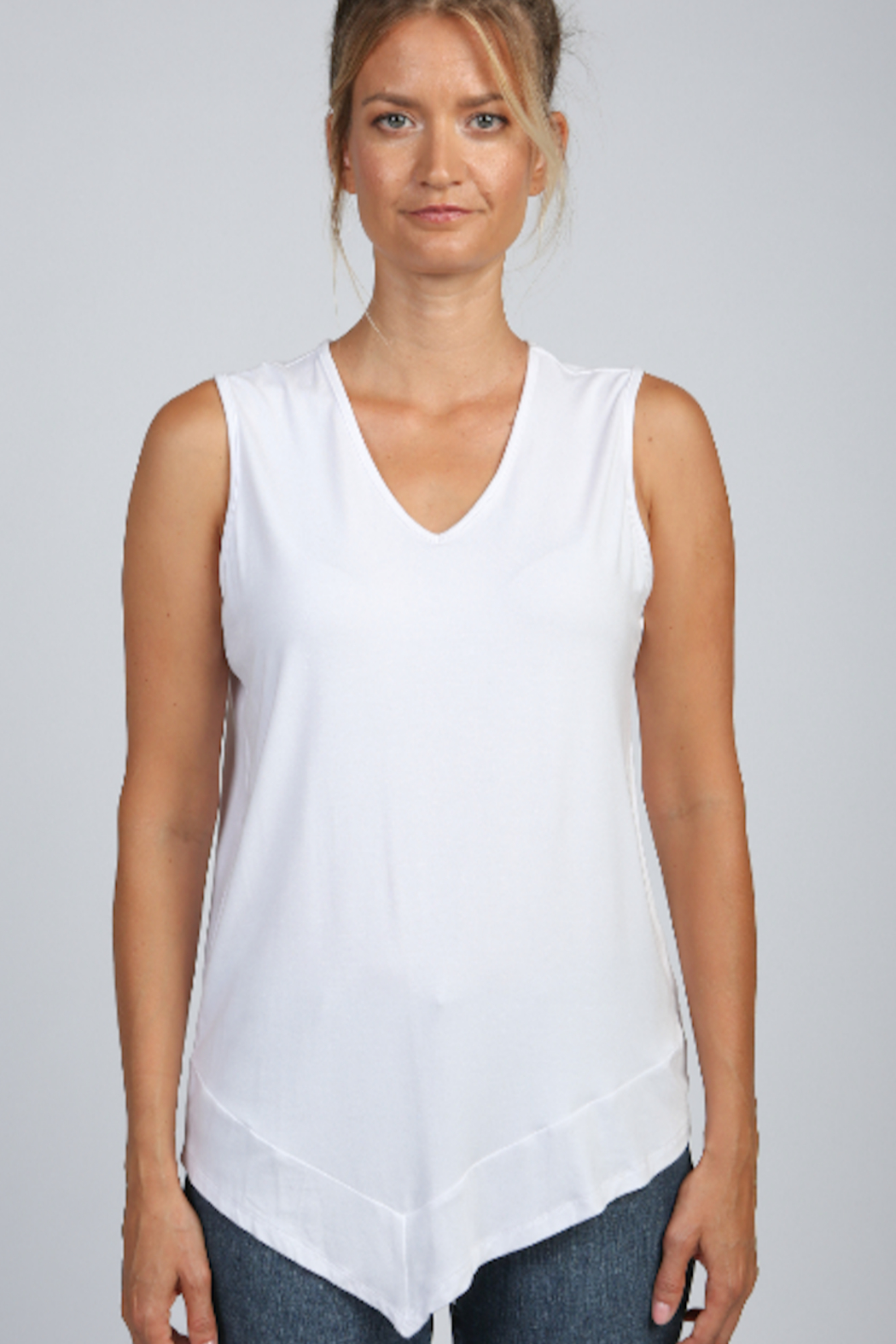 Articles of Society Asymmetrical Rib Hem Tank - Front Cropped Image