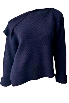 Shoptiques Product: Asymmetrical Ribbed Pullover