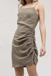 J.O.A. Asymmetrical Ruched Dress - Product Mini Image