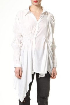 Madonna & Co Asymmetrical Ruched Shirt - Product List Image