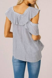 Listicle Asymmetrical Ruffle Top - Side cropped