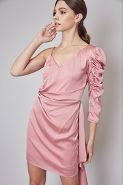 Do + Be  Asymmetrical Satin Dress - Product Mini Image