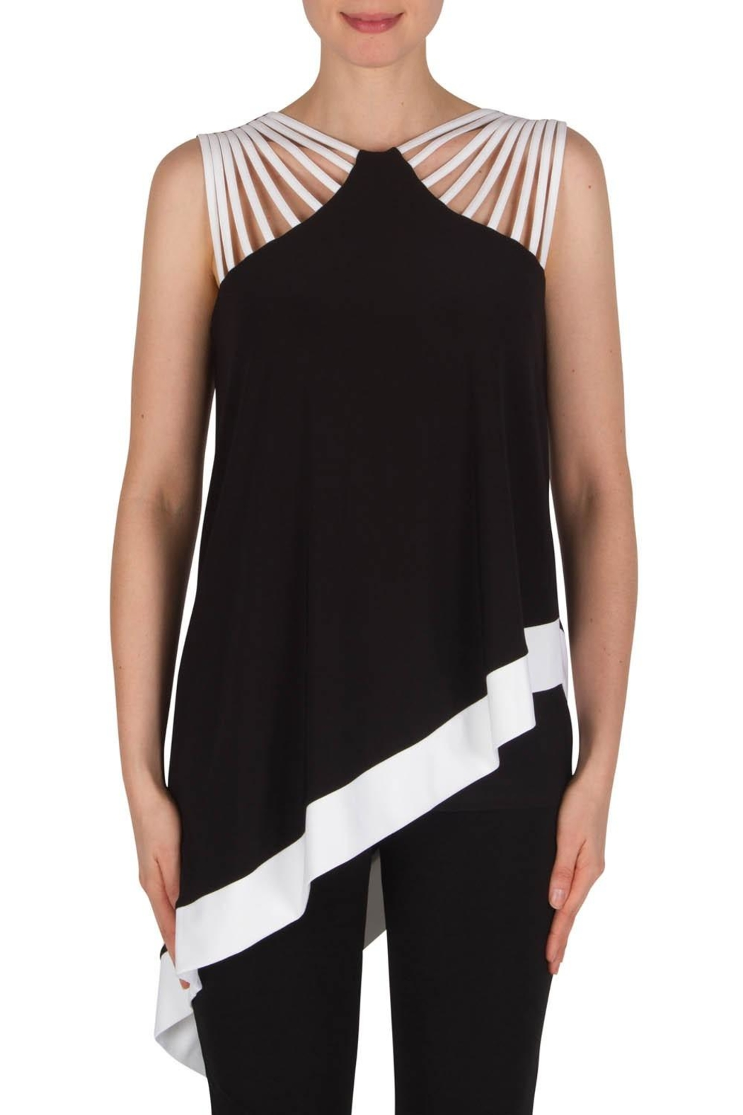 Joseph Ribkoff Asymmetrical  Top - Front Cropped Image