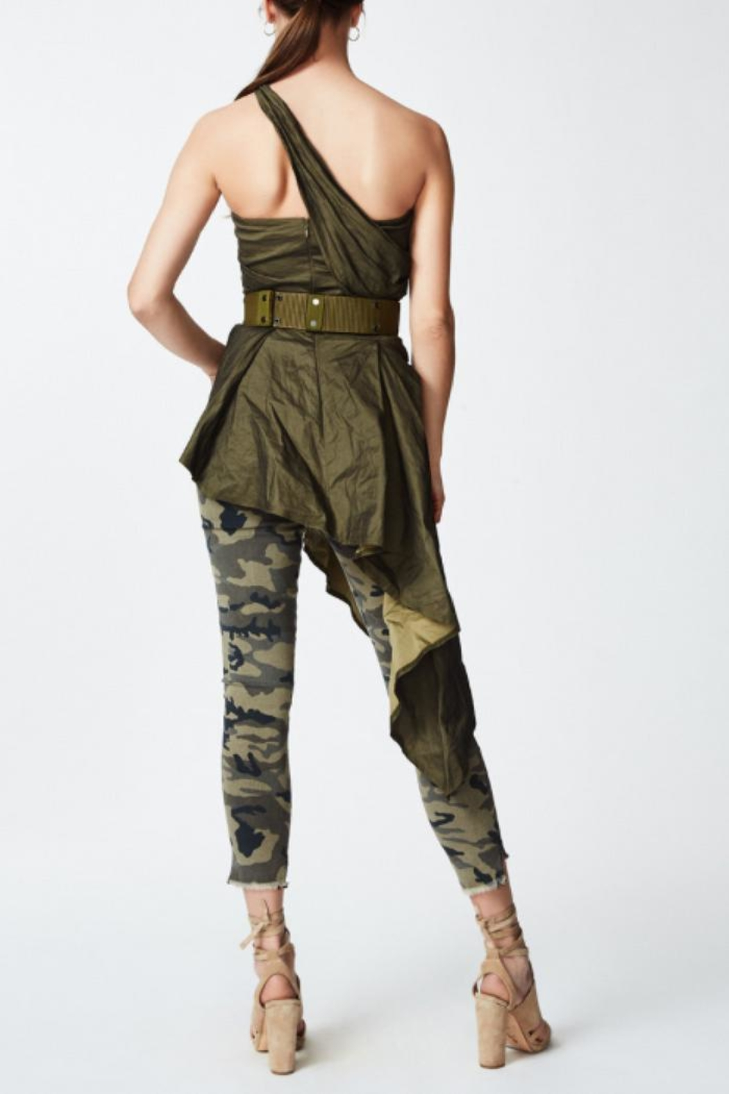 Nicole Miller Asymmetrical Top - Side Cropped Image