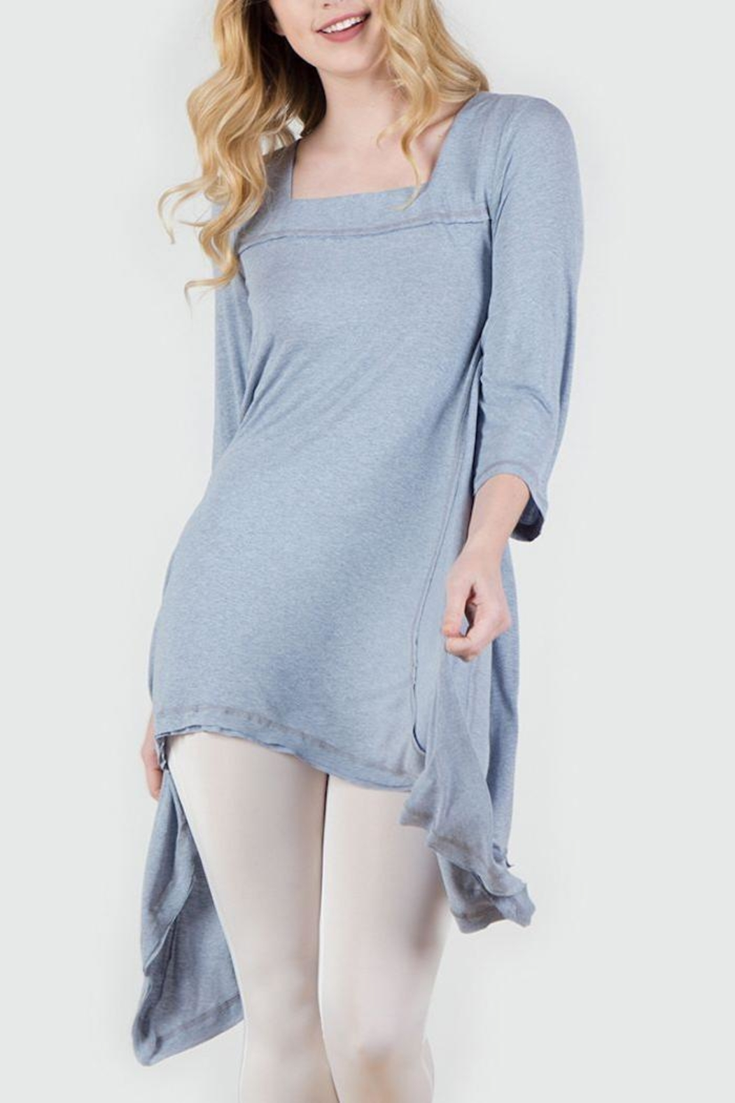 Monoreno Asymmetrical Tunic - Front Cropped Image