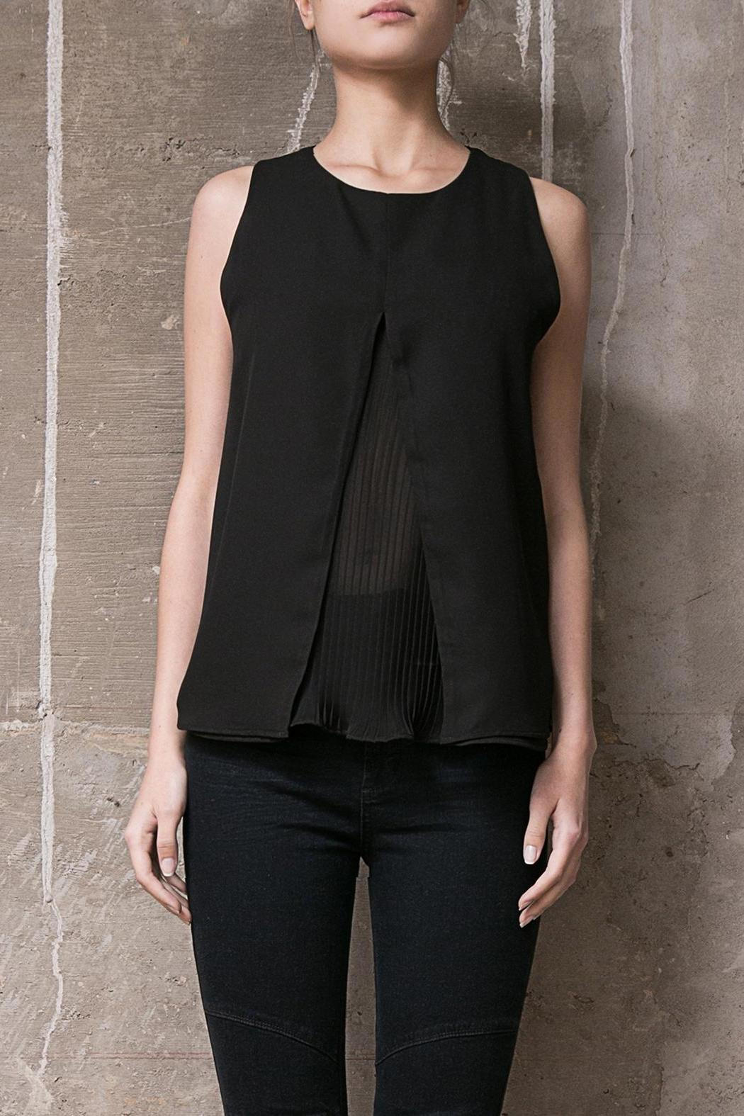 Atelier B.A. Black Azabache Top - Front Cropped Image