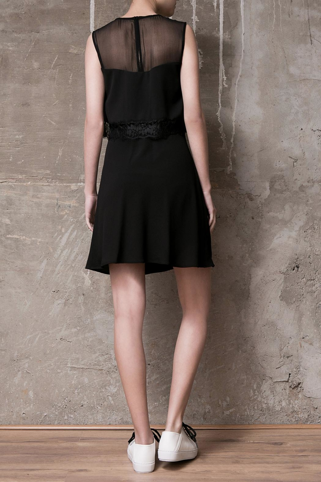 Atelier B.A. Black Dress Azabache - Side Cropped Image