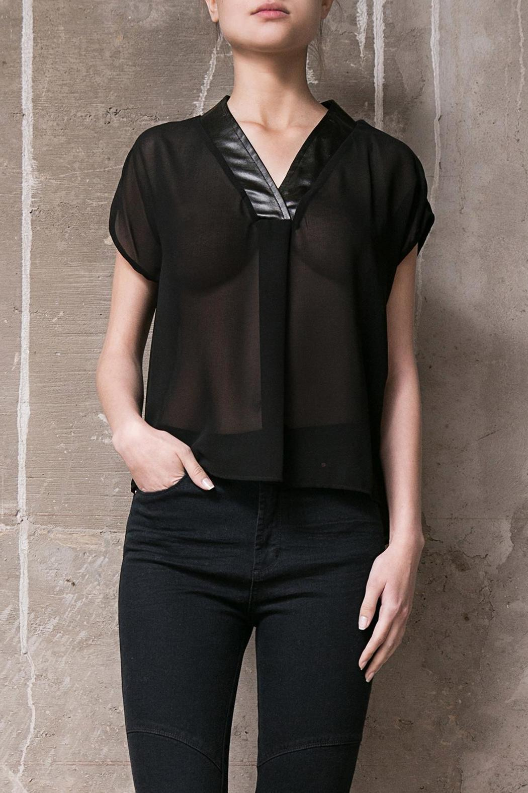 Atelier B.A. Black Gemas Blouse - Front Cropped Image