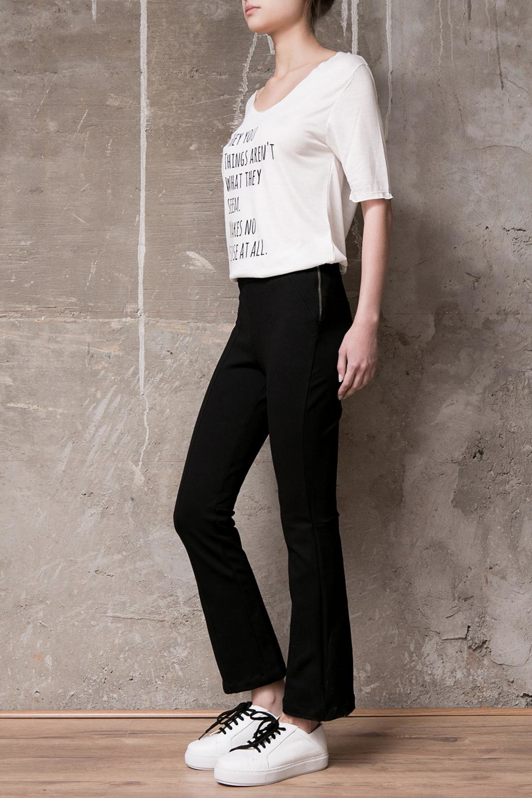 Atelier B.A. Crop Oxford Legging - Front Full Image