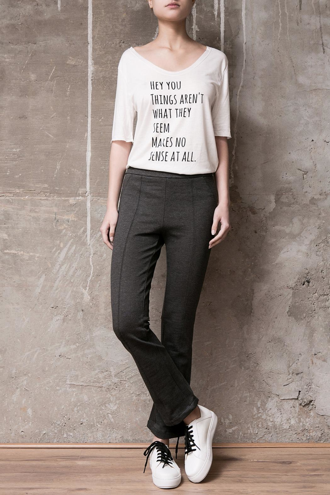Atelier B.A. Crop Oxford Legging - Front Cropped Image