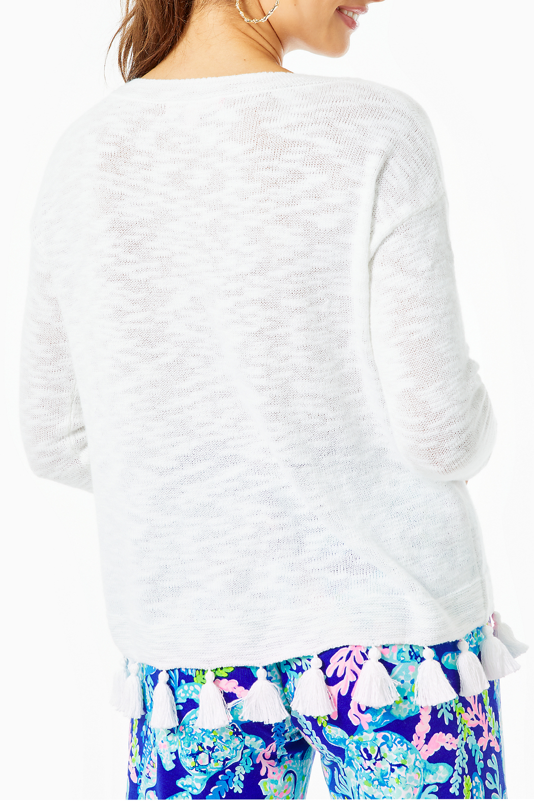 Lilly Pulitzer Athea Tassel Sweater - Front Full Image