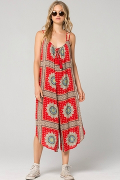 Band Of Gypsies Athens Medallion Scarf Print Jumpsuit - Product List Image
