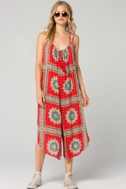 Band Of Gypsies Athens Medallion Scarf Print Jumpsuit - Product Mini Image