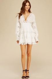 Athina Lace Dotted Mini-Dress - Product Mini Image