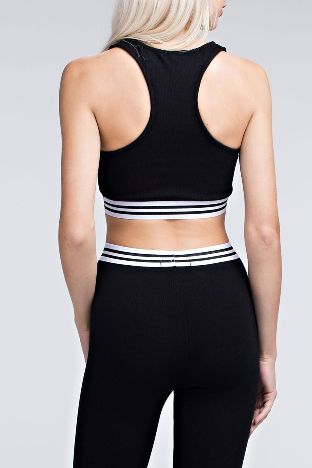 Wild Honey Athletic Striped Bra - Side Cropped Image