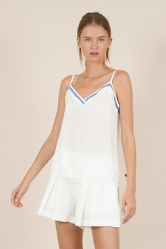 Shoptiques Product: Athletic V-neck Lace Detailed Camisole