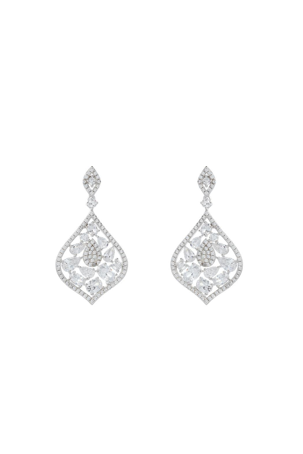athra silver statement earrings from dallas by gemma