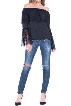 Shoptiques Product: Black Lace Top