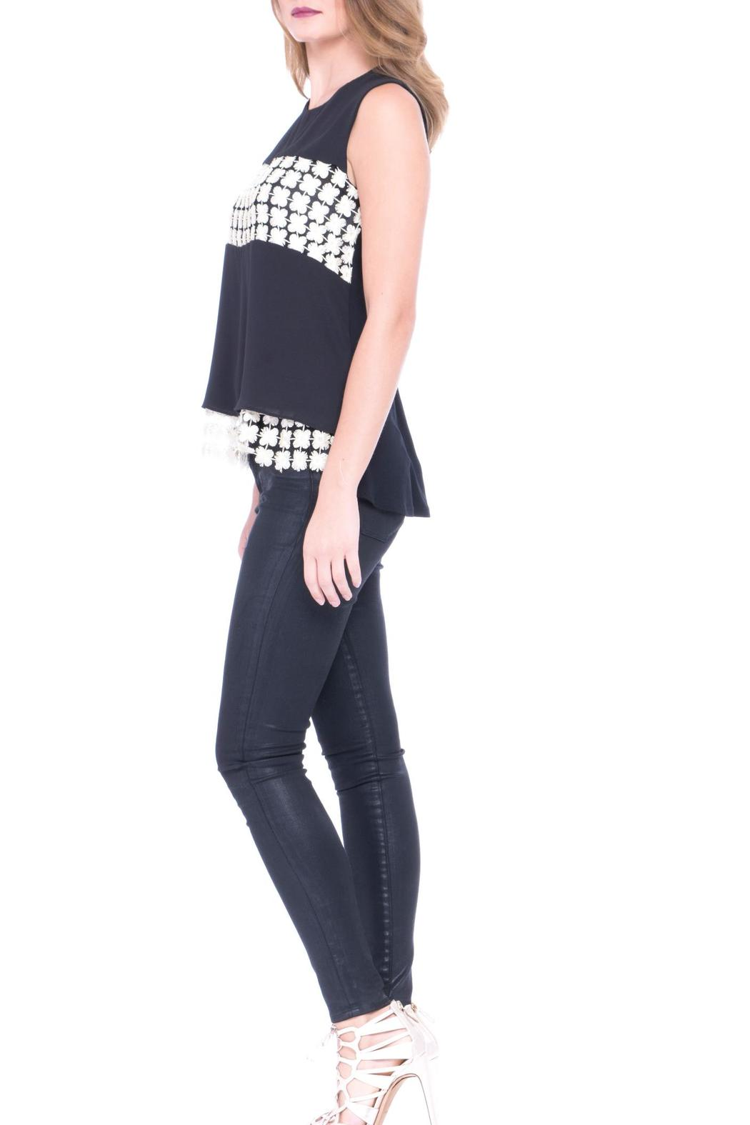Atina Cristina Lara Top Print - Side Cropped Image