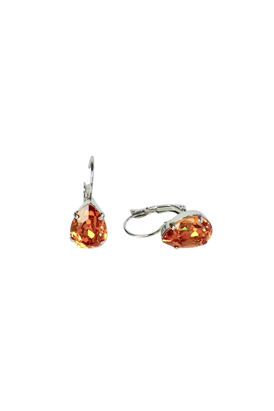Atlantis Pear Shaped Swarovski Earrings - Front Full Image