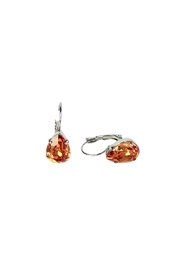 Atlantis Pear Shaped Swarovski Earrings - Front full body