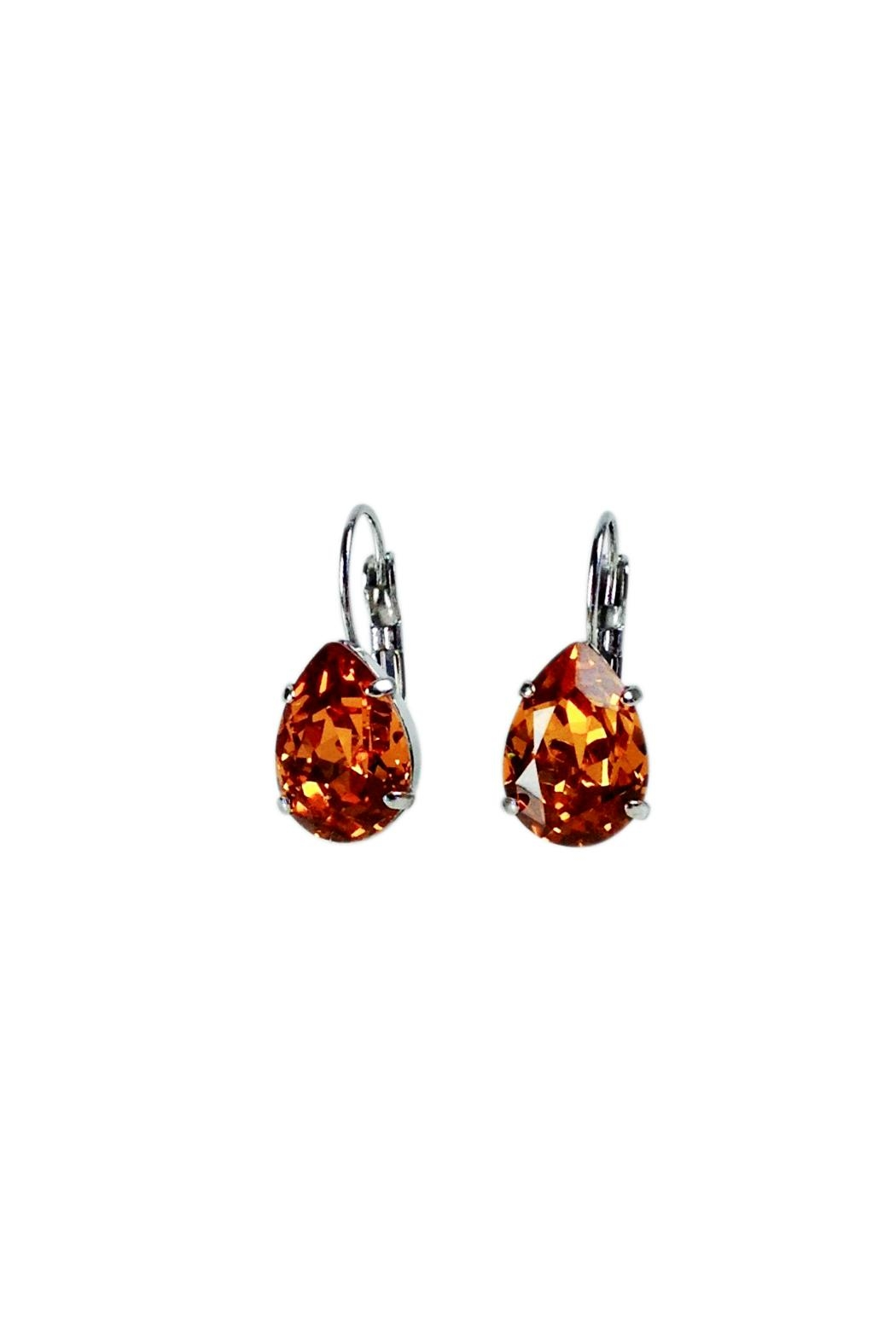 Atlantis Pear Shaped Swarovski Earrings - Main Image