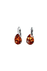 Atlantis Pear Shaped Swarovski Earrings - Front cropped