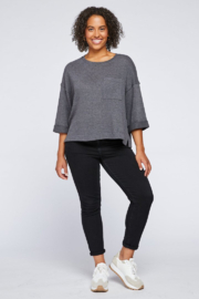 Gentle Fawn Atley Front Pocket 3/4 Slv Top - Product Mini Image