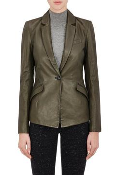 ATM Anthony Thomas Melillo Assymetrical Leather Blazer - Alternate List Image