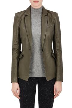 ATM Anthony Thomas Melillo Assymetrical Leather Blazer - Product List Image
