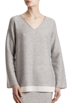 Shoptiques Product: Plated V Neck Sweater