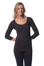 AtoZ 3/4 Sleeve Scoop - Front cropped