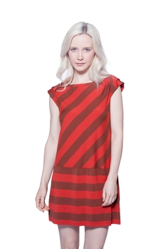 AtoZ Bias Striped Dress - Product List Image