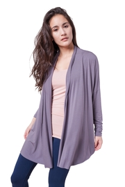 AtoZ Long Cardigan - Front cropped