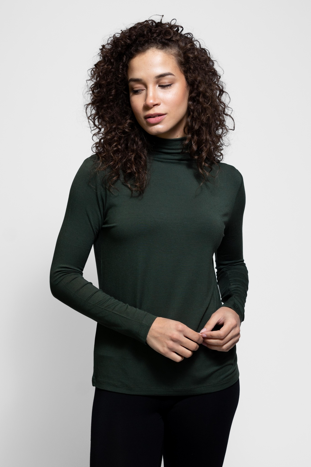 AtoZ Mock Neck Top - Front Cropped Image