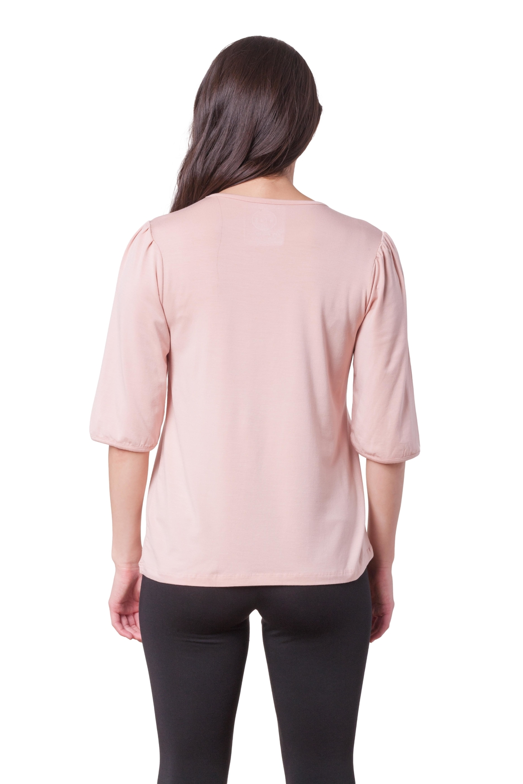 AtoZ Puffy Shoulder Top - Front Full Image