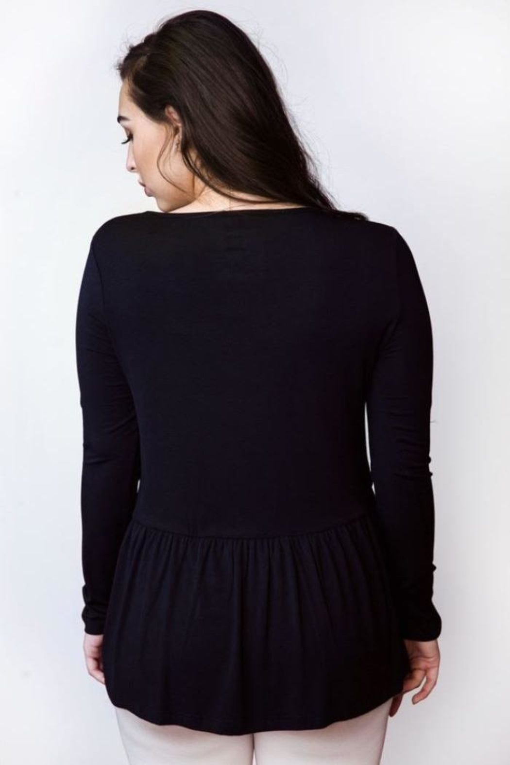 AtoZ Ruched Bottom Top - Side Cropped Image