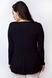 AtoZ Ruched Bottom Top - Side cropped
