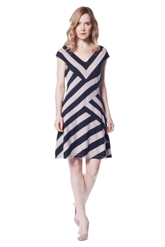 AtoZ V-Neck Stripe Dress - Product List Image