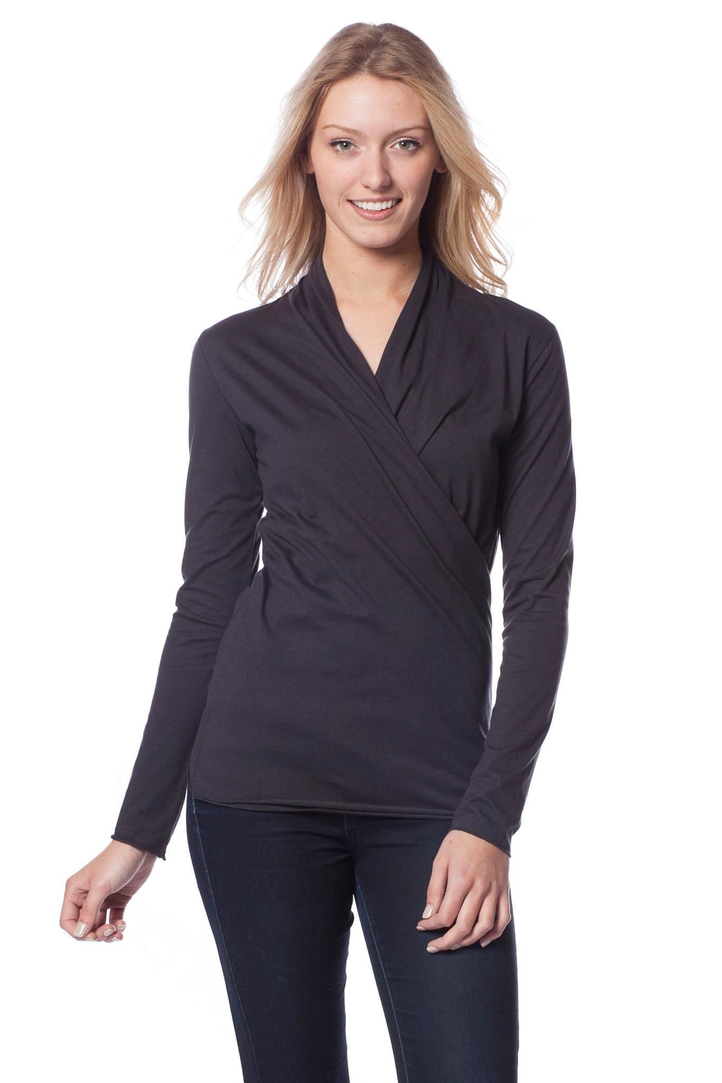 AtoZ Wrap Top - Front Cropped Image