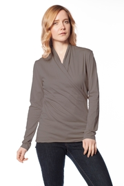 AtoZ Wrap Top - Front cropped