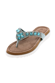 Atrevida Turquoise Jeweled Sandal - Product Mini Image