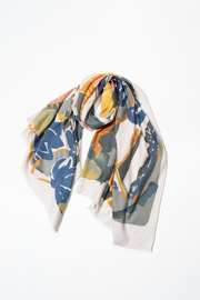 Attire Management Floral-Painting Soft-Touch Scarf - Product Mini Image