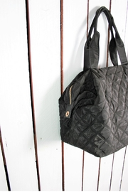 Attire Management Quilted Weekender Bag - Front full body