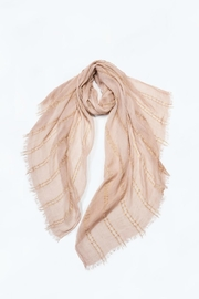 Attire Management Sparkly Striped-Stonewash Scarf - Product Mini Image