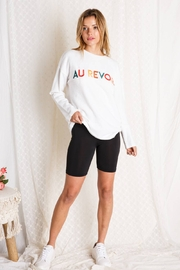 BaeVely Au Revoir Embroidered Top - Product Mini Image